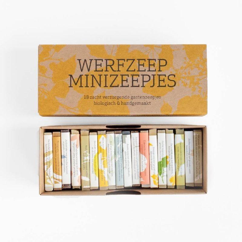 Cadeaudoos met 18 minizeepjes, Werfzeep