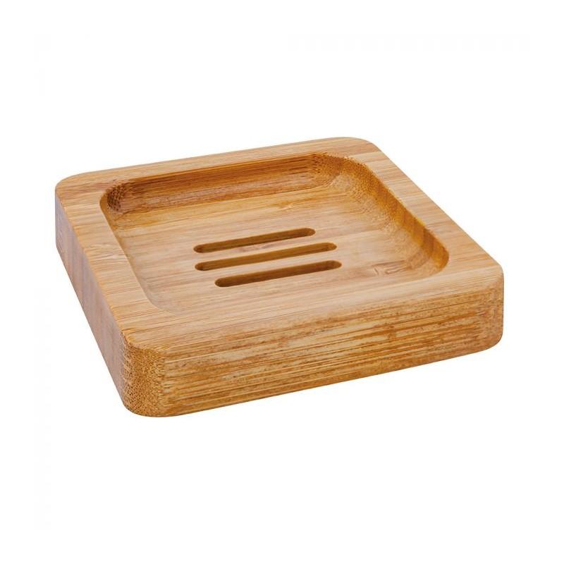 Bamboe zeepbakje vierkant. Groll & Denecker.